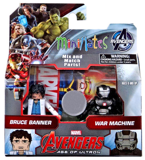 Marvel Avengers Age of Ultron Bruce Banner & War Machine 2-Inch Minifigure 2-Pack