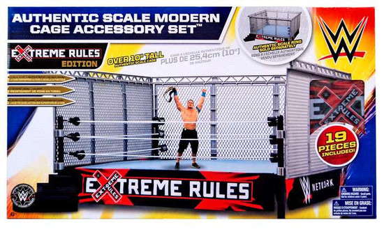 WWE Wrestling Xtreme Rules Cage Superstar Ring