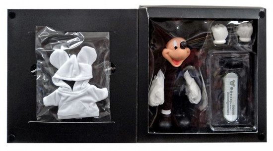 Disney Mickey Mouse Action Figure [Skateboard & Hoodie, Damaged Package]