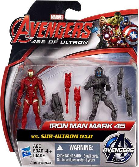 Marvel Avengers Age of Ultron Iron Man Mark 45 vs. Sub-Ultron 010 Action Figure 2-Pack