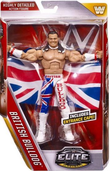 WWE Wrestling Elite Collection Series 39 British Bulldog Action Figure [Entrance Cape]