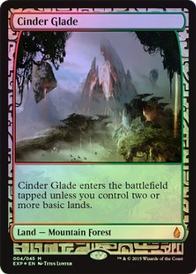 MtG Battle for Zendikar Rare Cinder Glade [Zendikar Expedition]