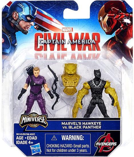 Captain America Civil War Hawkeye vs Black Panther 2.5-Inch Mini Figure 2-Pack