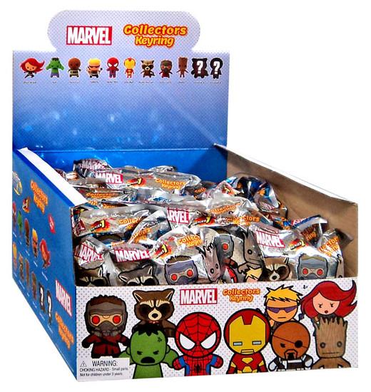 3D Figural Keyring Marvel Series 1 Mystery Box [24 Packs]