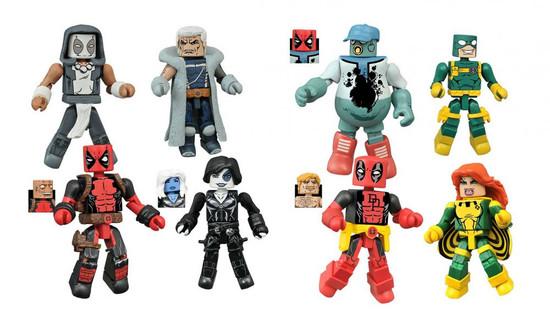Marvel Minimates Series 65 Deadpool Set of 4 Minifigure 2-Packs