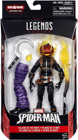 Marvel Legends Spider-Man Absorbing Man Series Jack O'Lantern Action Figure [Villains of the Night]