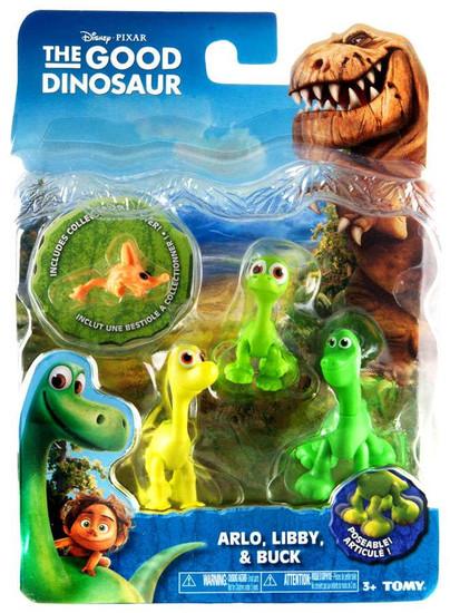 Disney The Good Dinosaur Arlo, Libby & Buck Action Figure 3-Pack