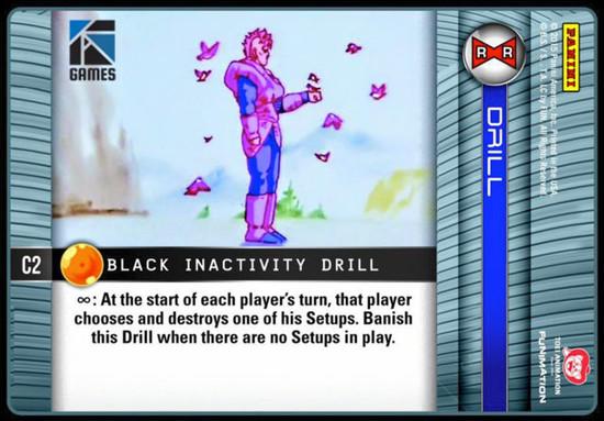 Dragon Ball Z CCG Evolution Common Black Inactivity C2