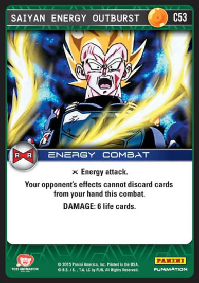 Dragon Ball Z CCG Evolution Common Saiyan Energy Outburst C53