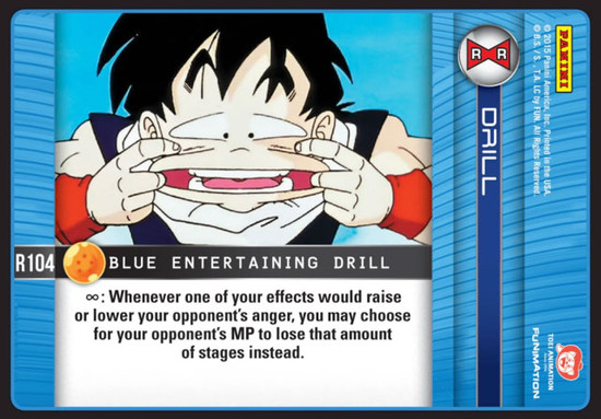 Dragon Ball Z CCG Evolution Rare Blue Entertaining Drill R104