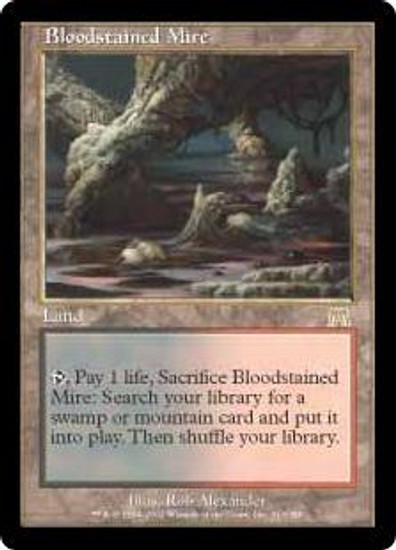 MtG Onslaught Rare Bloodstained Mire #313 [Japanese]