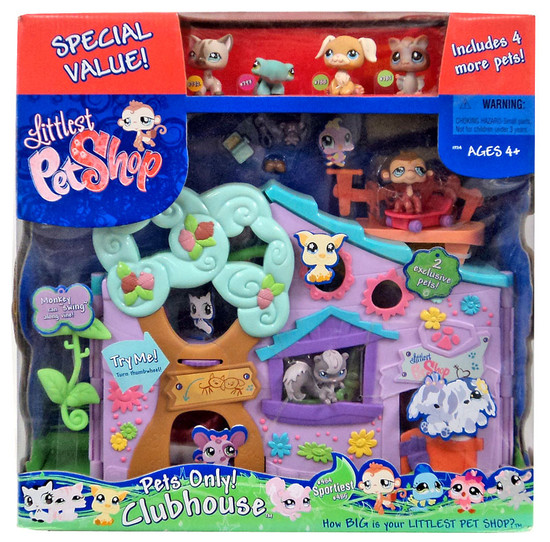 Littlest Pet Shop Pets Only Clubhouse Playset [with 4 Bonus Pets!]