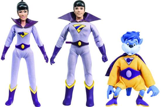 DC World's Greatest Heroes! The Wonder Twins & Gleek Retro Action Figures