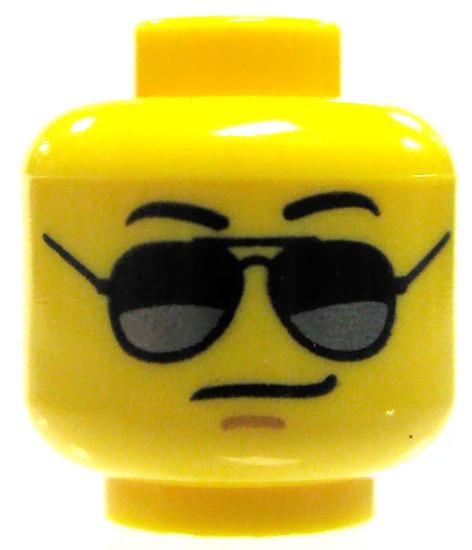 Yellow Male with Black Avator Sunglasses Minifigure Head [Loose]