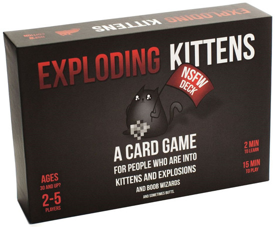 Exploding Kittens NSFW Edition Card Game [Explicit Content]