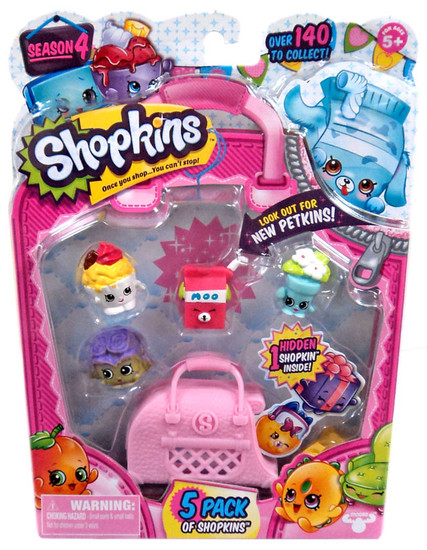 Shopkins Season 4 Mini Figure 5-Pack