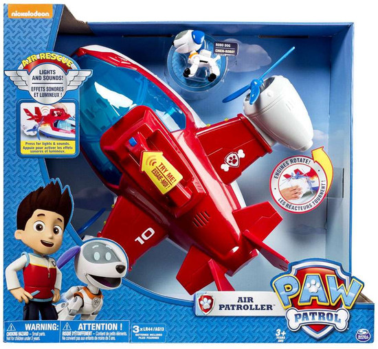 Paw Patrol Air Rescue Air Patroller Lights & Sounds Vehicle [Robo Dog!]