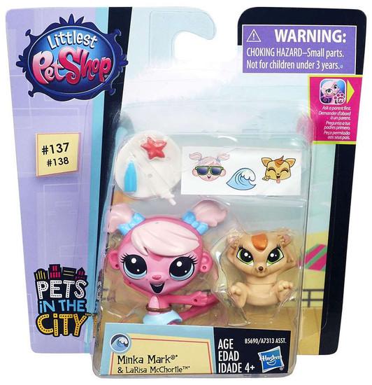 Littlest Pet Shop Pets in the City Minka Mark & LaRisa McChortle Figure 2-pack