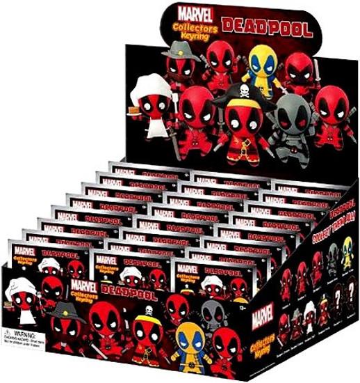 Marvel 3D Figural Keyring Deadpool Series 1 Mystery Box [24 Packs]