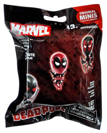 Marvel Original Minis Series 1 Deadpool Bobble Head Mystery Pack