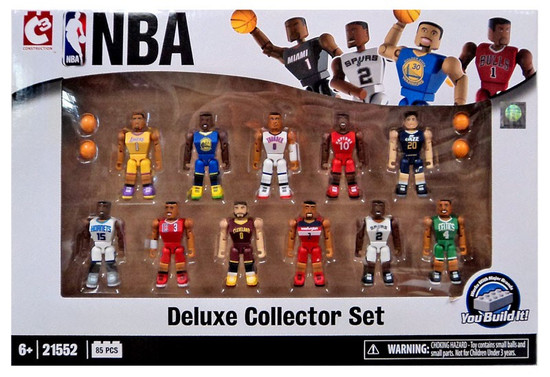 NBA C3 Construction Deluxe Collector Set Minifigure 11-Pack #21552 [2016]