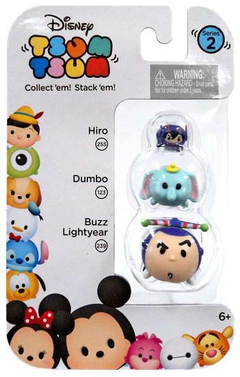 Disney Tsum Tsum Series 2 Hiro, Dumbo & Buzz Lightyear Minifigure 3-Pack #255, 123 & 239