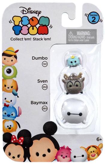 Disney Tsum Tsum Series 2 Dumbo, Sven & Baymax Minifigure 3-Pack #122, 253 & 260
