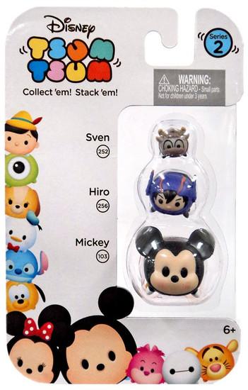 Disney Tsum Tsum Series 2 Sven, Hiro & Mickey Minifigure 3-Pack #252, 256 & 103