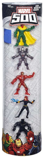 Marvel 500 Vision, War Machine, Iron Man, Black Widow & Black Panther Exclusive 2-Inch Mini Figure 5-Pack