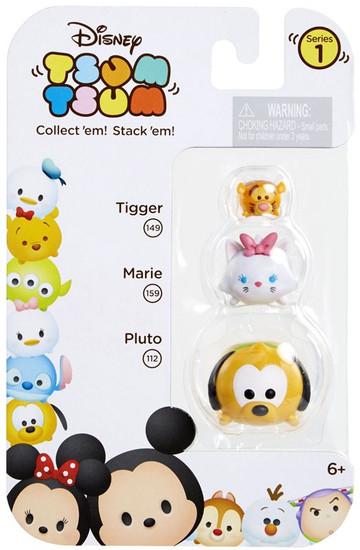 Disney Tsum Tsum Series 1 Tigger, Marie & Pluto Minifigure 3-Pack #149, 159 & 112