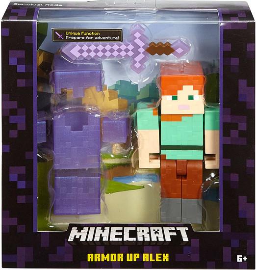 Minecraft Survival Mode Armor Up Alex Action Figure