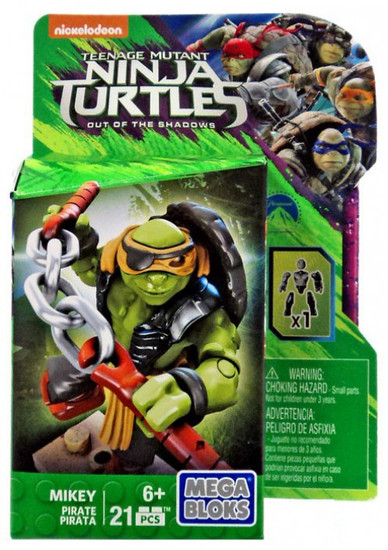 Mega Bloks Teenage Mutant Ninja Turtles Out of the Shadows Mikey Set DPW17 [Pirate]