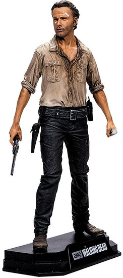 McFarlane Toys The Walking Dead Color Tops Red Wave Rick Grimes Action Figure #1