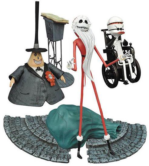 Nightmare Before Christmas Select Series 2 Santa Jack, Mayor & Dr. Finkelstein Set of 3 Action Figures