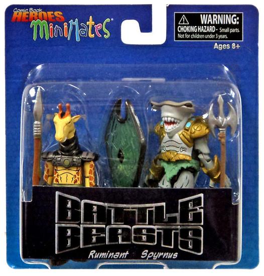 Battle Beasts Comic Book Heroes MiniMates Ruminant & Spyrnus Minifigure 2-Pack