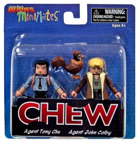 Chew Comic Book Heroes Minimates Agent Tony Chu & Agent John Colby 2-Inch Minifigure 2-Pack