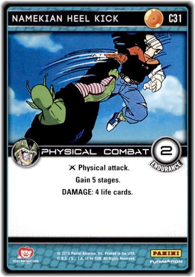 Dragon Ball Z Perfection Common Namekian Heel Kick C31
