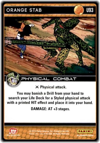 Dragon Ball Z CCG Perfection Uncommon Orange Stab U93
