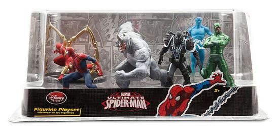 Disney Marvel Ultimate Spider-Man 6-Piece PVC Figure Play Set [Spider-Man, Rhino, Agent Venom, Electro, Scorpion & Iron Spider]