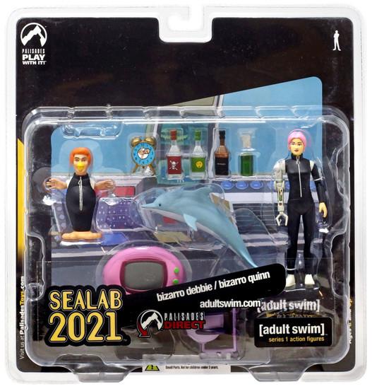 Adult Swim Sealab 2021 Series 1 Bizarro Debbie & Bizarro Quinn Exclusive Action Figure 2-Pack