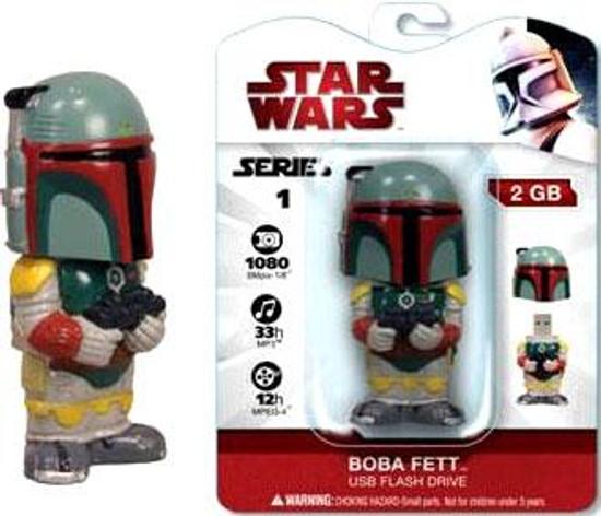 Funko Star Wars Bobble Head Flash Drives Series 1 Boba Fett USB Flash Drive