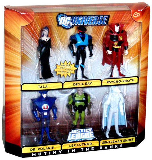 DC Universe Justice League Unlimited Mutiny in the Ranks Exclusive Action Figure Set [Lex Luthor, Tala, Devil Ray, Dr. Polaris, Psycho-Pirate, Gentleman Ghost]