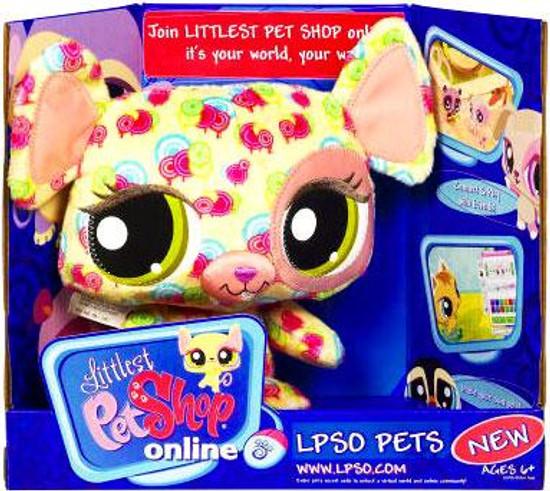 Littlest Pet Shop Online LPSO Pets Mouse Plush [Pink Swirls]