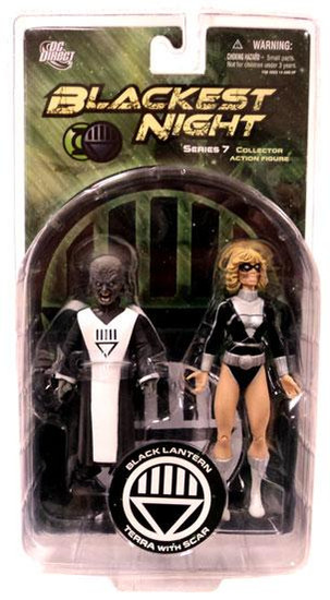 DC Green Lantern Blackest Night Series 7 Black Lantern Terra with Scar Action Figure