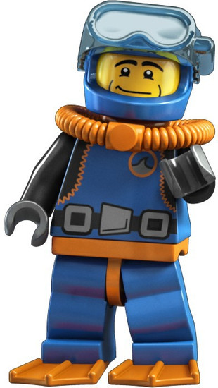 LEGO Minifigures Series 1 Deep Sea Diver Minifigure [Loose]