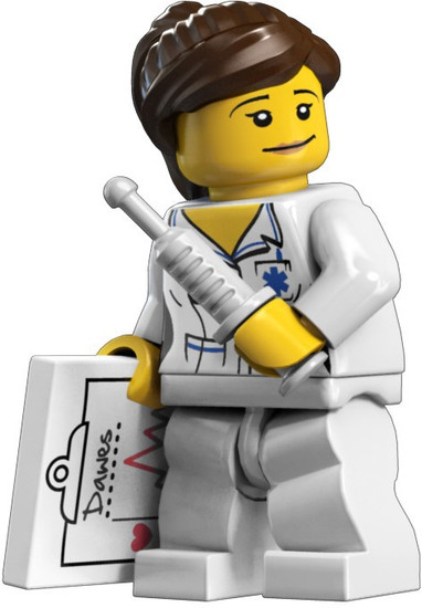 LEGO Minifigures Series 1 Nurse Minifigure [Loose]