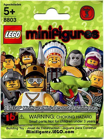 LEGO Minifigures Series 3 Mystery Pack [1 RANDOM Figure]