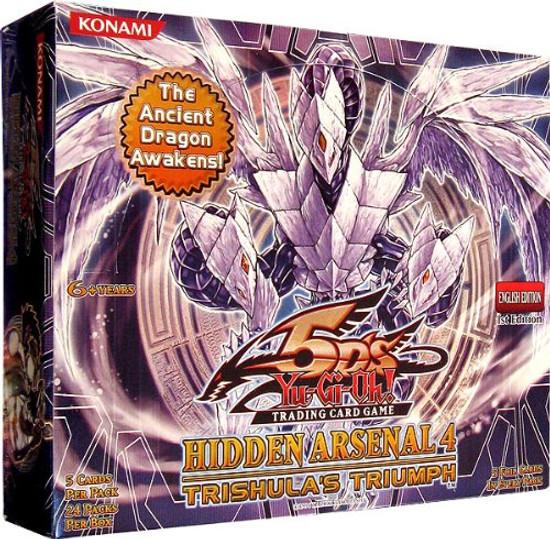 YuGiOh Trading Card Game Hidden Arsenal 4: Trishula's Triumph Booster Box [24 Packs]