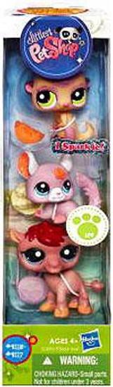 Littlest Pet Shop Meerkat, Chinchilla & Camel Figure 3-Pack #9115 - 9117