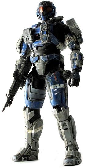 Halo Reach Deluxe Articulated Showcase Commander Carter Collectible Figure